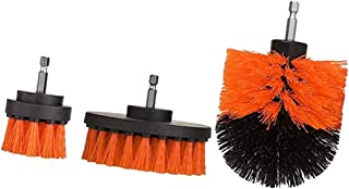 FITYLE 3pcs Orange Drill Brush Attachment Drill Brush Power Scrubber Cleaning Tools for Bathroom & Kitchen Surfaces