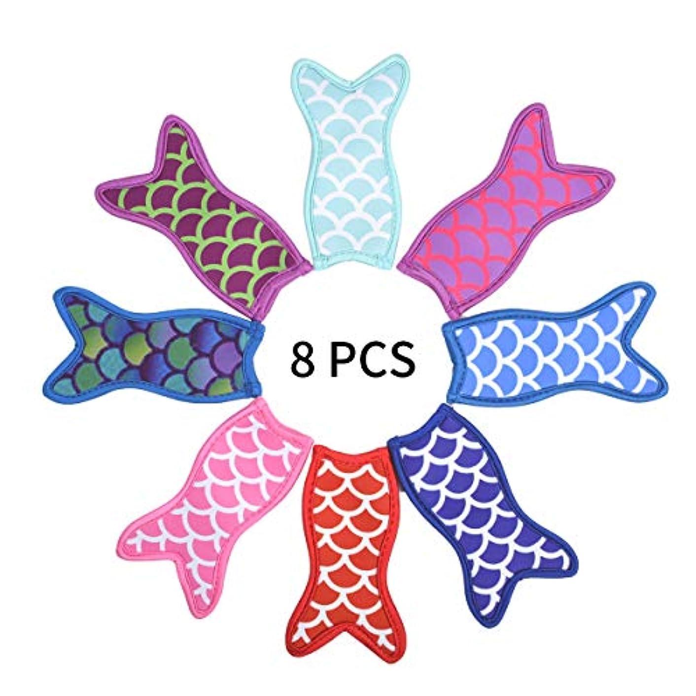 iKammo Mermaid Popsicle Holder,Neoprene Reusable Washable tail Freezer Ice Pop Sleeves (Mermaid)