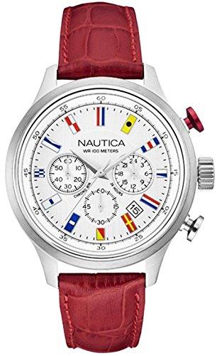 Nautica Orologio Cronografo Quarzo Uomo con Cinturino in Pelle NAI16519G