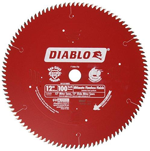 Freud D12100X Diablo - Hoja de sierra circular ultra fina para madera y compuestos de madera, 12 pulgadas