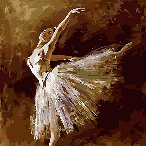 Fuumuui 5D Diamond Painting Diamant Painting Bilder Kristall Strass Stickerei Kreuzstich Arts Craft für Home Wand-Decor 30 x 40 cm-Ballett