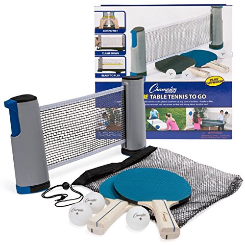 Buy Cheap Champion Sports AWTSET Anywhere Table Tennis: Ping Pong Paddles, Balls, and Portable Net &...