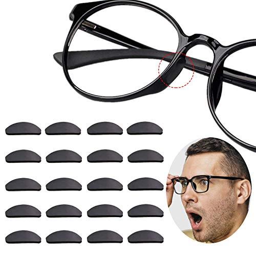 12 Pares Almohadillas de Nariz Adhesivas Almohadillas de Gafas de Silicona Antideslizantes para(1.5mm Transparente)