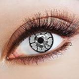 aricona Kontaktlinsen - Weiße Zombie Kontaktlinsen - farbige Kontaktlinsen Halloween ohne Stärke