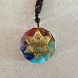 DFUF Hermosa Orgonita Colgante Orgon Aura Collar Cristal Collar Amuleto Collar Energía Convertidor Energía Yoga Collar (Metal Color : 1)