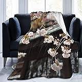 Manta de manta Newsletter Melocotón Flor Ultra Suave Micro Fleece Manta de Cama para Sofá Sala de estar Playa Picnic Otoño Primavera Invierno Uso Manta D1093