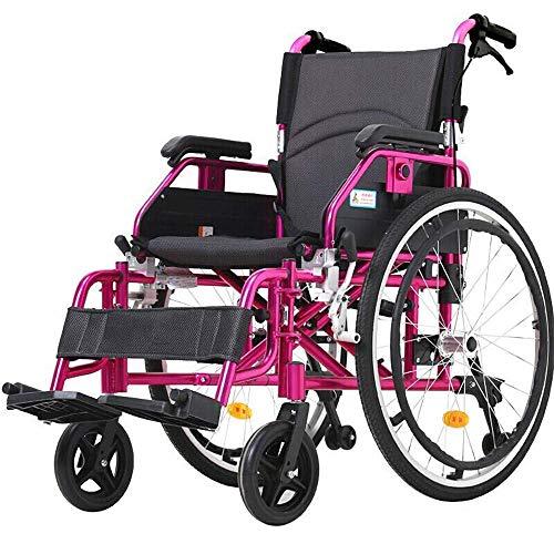 Gcxzb Deporte Las sillas de ruedas portátil silla de ruedas plegable absorción de choque 3D Manual adecuado for los ancianos, discapacitados, pacientes en rehabilitación Ligera Silla de ruedas plegabl