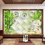 Tapeten Wandbilder,Im Chinesischen Stil Lotus Kreis Bambus