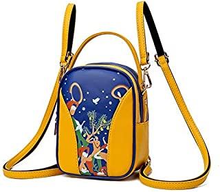 Backpack New Printed Women's Bag, Multi-Functional Waterproof Shoulder Bag, one-Shoulder Cute Mini Backpack, Outdoor Travel and Shopping Backpack 18 x 8 x 14cm Silver