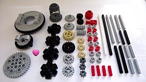 LEGO® TECHNIC 60 Pezzi Ingranaggi, Assi e Set Stopper. Dato Un Cuore