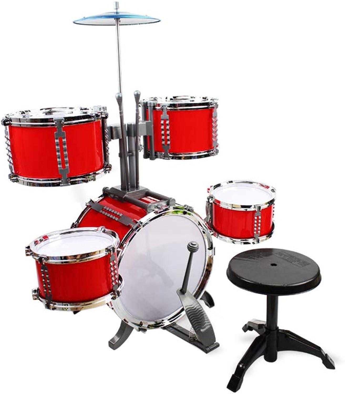 precios mas bajos SHLIN-Tambor Música Infantil Juguetes Baterías Puzzle Educación temprana Jazz Jazz Jazz Batería Percusión Regalo de cumpleaños (Color   Rojo)  precios mas baratos