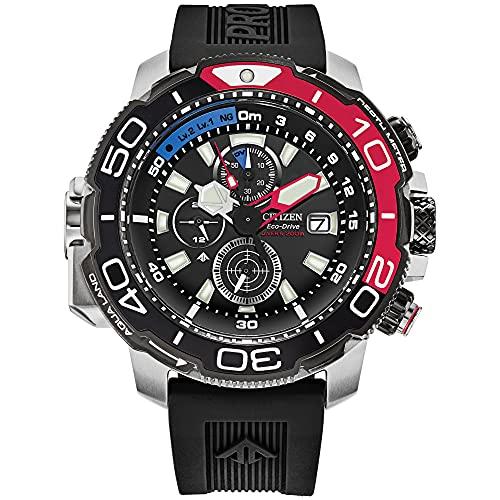 Citizen BJ2167-03E Promaster - Reloj de buceo con correa de goma negra para hombre