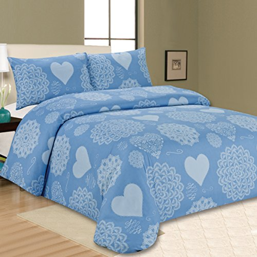 Sonia Moer Premium Duvet Cover Set Californian Blue (Superking)