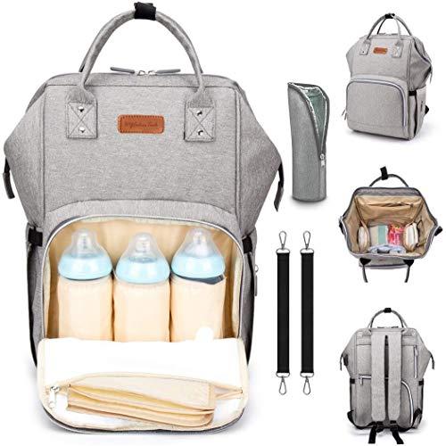 Baby Wickelrucksack Wickeltasche Babytasche, Wasserdicht Oxford Große Kapazität für ausgehen,Multifunktional zum Rucksack Große Kapazität Babytasche Reisetasche für Unterwegs für Säuglingspflege