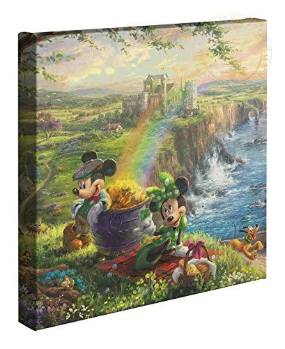 Thomas Kinkade Studios Disney Mickey and Minnie in Ireland 14 x 14 Gallery Wrapped Canvas