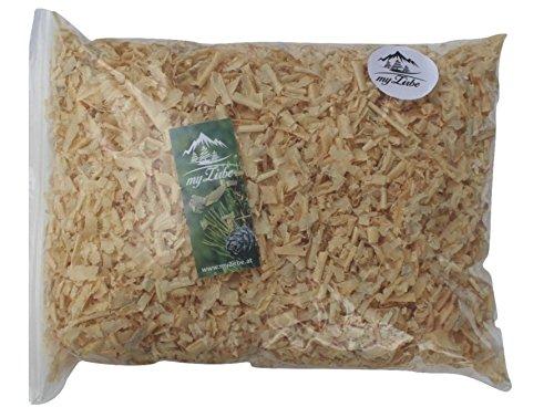 Zirbenspäne, Zirbenflocken 12 Liter, Zirbenkissen Füllung aus 100% Alpen Zirbenholz zum Nachfüllen
