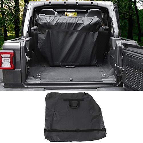 CheroCar Freedom Top Panels Storage Bag for Jeep Wrangler JK JKU JL JLU 2 door 4 door Hard Top Models JT Gladiator(Black)