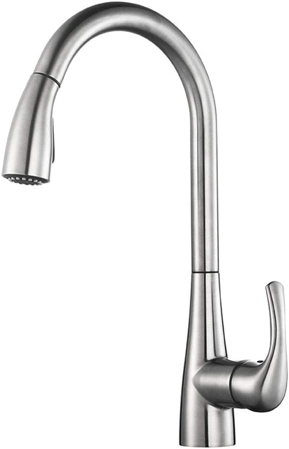 LXKY Faucet - kitchen hot and cold faucet pull-out dishwashing pan full copper, for kitchen and bathroom hotel