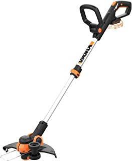 WORX WG163.9 20V Cordless Grass Trimmer/Edger with Command Feed, 12