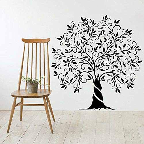 wZUN Pegatinas de Pared Naturales decoración de Sala de Estar árbol genealógico de la Vida Pegatinas de Pared extraíbles de Vinilo decoración del hogar 64X63cm