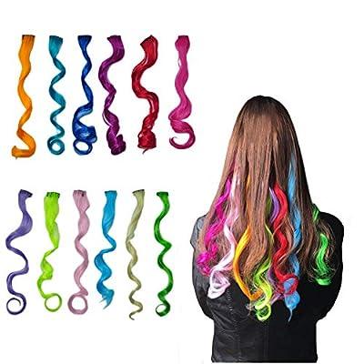 Highlight Haarverlängerungen Multi-Farben Party