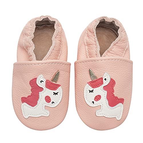 Zapatos para bebé para aprender a andar, de piel suave, suela de ante antideslizante, color, talla 18-24 meses