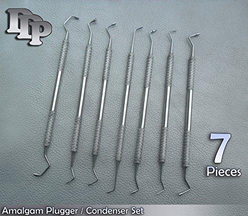 7 Pc Set Amalgam Plugger / Condenser Dental DDP