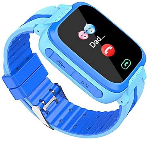YHQKJ Relojes telefónicos para niños, Reloj de Pantalla táctil Inteligente, GPS LED SOS Llamar al teléfono Teléfono para niñas Boys 3-12 años, Regalo de cumpleaños para niños