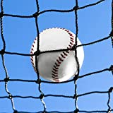 Baseball Backstop Nets [50 Sizes] | Pro Grade Baseball Softball Netting Material – 100% Weatherproof | Baseball Net with Overlocked Edging | Reinforced Softball Net (01. 5' x 5')