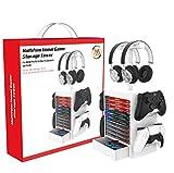 PS5 Organizador de juegos, soporte de almacenamiento para accesorios...