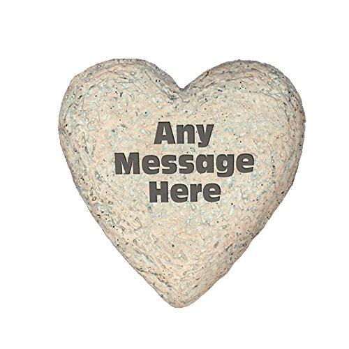 GiftsForYouNow Personalized Heart Shaped Faux Garden Stone with Any Message Added, 8.5