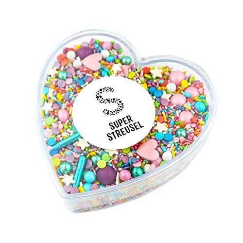 Super Streusel Konfettiparade in Geschenkbox | Das perfekte Geschenk für alle die gerne Backen | Zuckerstreusel für Kuchen Kekse Torte uvm. | Alle Zutaten aus der EU | Ohne AZO-Farbstoffe (160g)