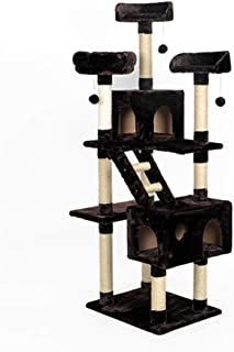 Play Towers & Trees Scratching Posts Cat Climbing Frame Villa One Grab Column Toy Large Luxury Assembly Solid Kitten Tree Activity Centre Cats Climb Tree Tingting