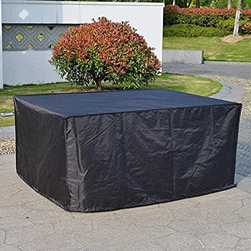 Copritavolo per sedie e divani, impermeabile in tessuto Oxford 420D, anti-UV, copertura per tavolo da esterno 260 x 180 x 85 cm, nero