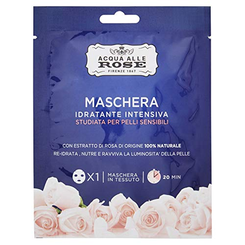 Acqua alle Rose Maschere Idratante Intensiva, Pelli Sensibili, 25 ml