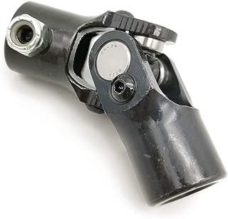 Ensun 3/4-36 Spline x 3/4 Round Black Single Steering Shaft Universal U Joint, Maximum Working Angle: 35° Degree, Total Length: 96mm (3-3/4