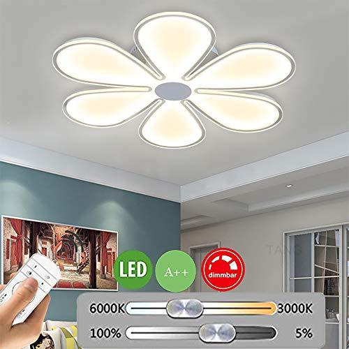 LED plafondlamp ultradun modern slaapkamerlamp dimmen bloesemvorm plafondlamp met afstandsbediening aluminium kroonluchter voor binnen woonkamerlamp eetkamer keuken lamp hal plafond verlichting 76W