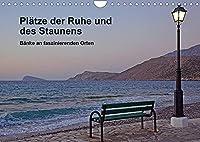 Plaetze der Ruhe und des Staunens - Baenke an faszinierenden Orten (Wandkalender 2022 DIN A4 quer): Baenke an aussergewoehnlichen Orten in Europa (Monatskalender, 14 Seiten )