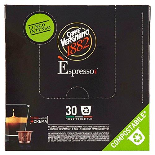 Caffè Vergnano 1882 Èspresso1882 Lungo Intenso - 30 Capsule - Compatibili Nespresso