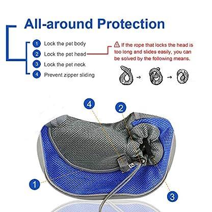 BIGWING Style Pet Sling Carrier for Dog Cat Pets Travel Shoulder Bags (L, Blue) 2