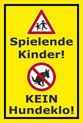 Melis Folienwerkstatt Schild Kinder - Kein Hundeklo - 30x20cm - Bohrlöcher - 3mm Aluverbund – 20 VAR S00187-012-C