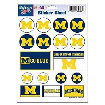 WinCraft NCAA University of Michigan Vinyl Sticker Sheet 5  x 7