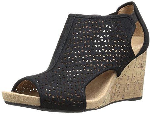 LifeStride Women's HINX 2 Wedge Sandal, Black, 8.5 M US