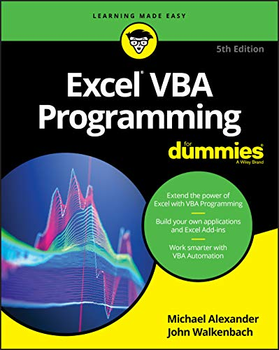 Excel VBA Programming For Dummies 5th Edition (For Dummies (Computer/Tech))
