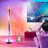 Lampada da Terra Soggiorno RGB Dimmerabile Con Telecomando, Moderna Lampada da Terra Spirale LED Con Colore RGB, Lampada Angolare Piantana Alluminio Per Camera da Letto Ufficio Bambini,135 cm,Nero