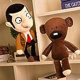yqs 30cm Mr Bean Teddy Bear Giocattoli di Peluche Movie Mr.Bean Simpatici Giocattoli Imbottiti Kawaii per Regali di Compleanno per Bambini
