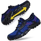 DimaiGlobal Zapatillas de Trekking para Hombres Verano Sandalias Deportivas Pescador Playa Zapatos Casuales Transpirable Zapatilla de Senderismo 44EU Azul