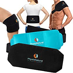 Multipurpose, Reusable Gel Pack with Secure Wrap for Instant Relief of Back Pain, Sore Shoulders, Swollen Knees - Ideal for Injuries, Arthritis, Sprains, Aches, and Surgery Recovery