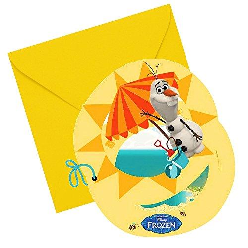 La Reine des Neiges - Disney Frozen Party Anniversaire Cartes Invitation Olaf 6 Pcs