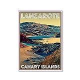 Pintura en lienzo Lanzarote World Travel City Cuadro de arte de pared Lienzo Carteles e impresiones Impresión en HD Mural Sala de estar Decoración del hogar Pintura sin marco